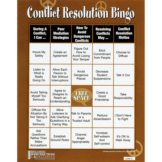 Conflict Resolution Bingo