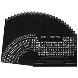Letter Size Photographic Periodic Table - Pack of 25