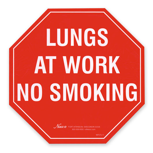 No Smoking Stop Sign Poster - 9-3/8 x 9-3/8