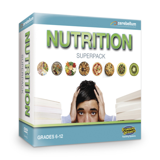Standard Deviants School Nutrition Super Pack Teaching System