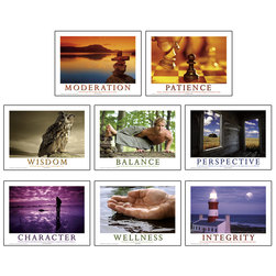 Mind, Body, & Spirit Poster Series - 18 in. x 24 in. - Set of 8