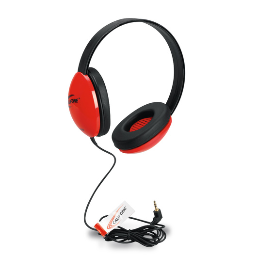 Califone® 2800-RD Listening First™ Stereo Headphones - Red