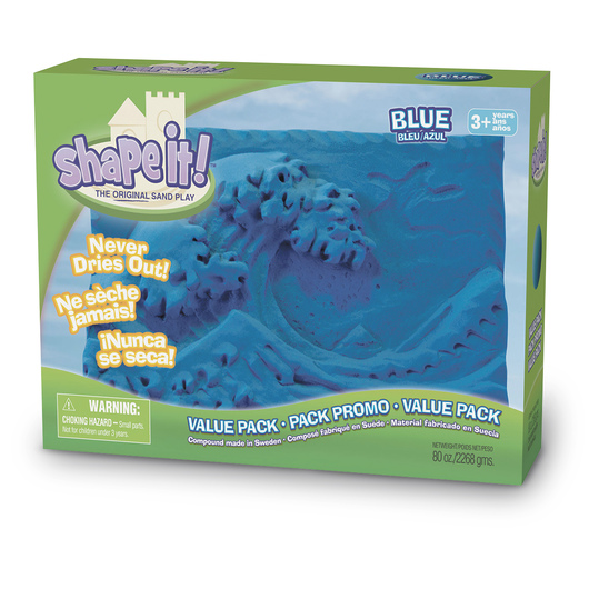 Relevant Play Shape it!™ Sand Blue - 5 lb. Box