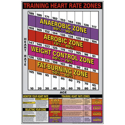 Training Heart Rate Zones Chart - 24 in. x 36 in.