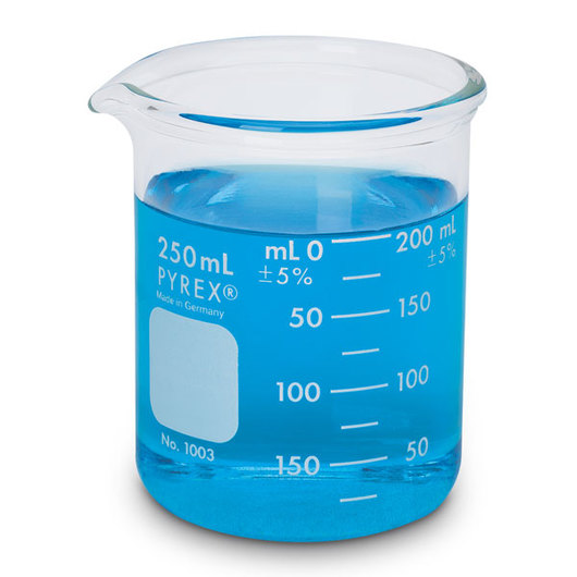 CORNING® PYREX® Heavy-Duty Griffin Beaker - 250 ml