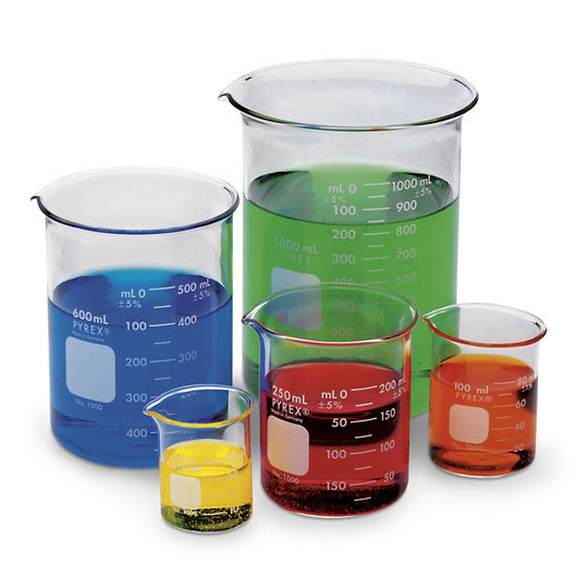 CORNING® PYREX® Set of 5 Low Form Beakers