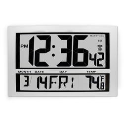 Jumbo LCD Radio Atomic Wall Clock