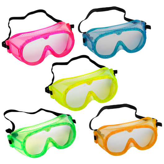 6 in. Secondary Fluorescent Safety Goggles - Set of 5