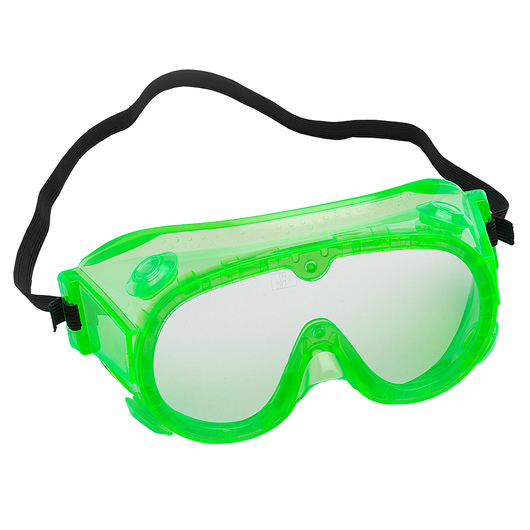 Secondary Fluorescent Splash Goggles - Set of 5 - 6 in.