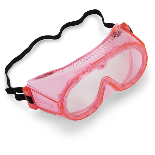 6 in. Fluorescent Secondary Safety Goggles - Pink