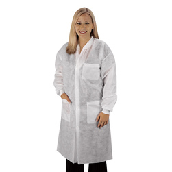 Disposable KneeLength Lab Coat