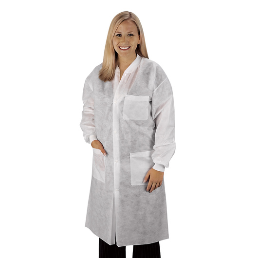 Disposable Knee-Length Lab Coat - Medium
