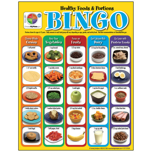 MyPlate Healthy Foods & Portions Bingo Game