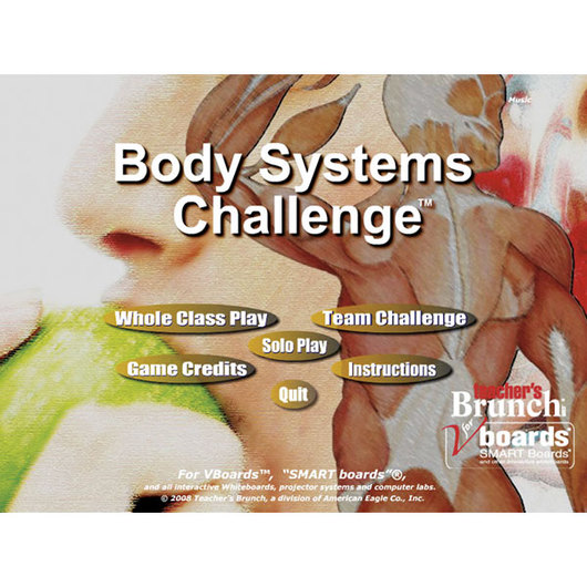 Body Systems Challenge Game CD-ROM