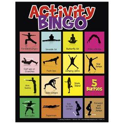 Physical Activity Bingo Game