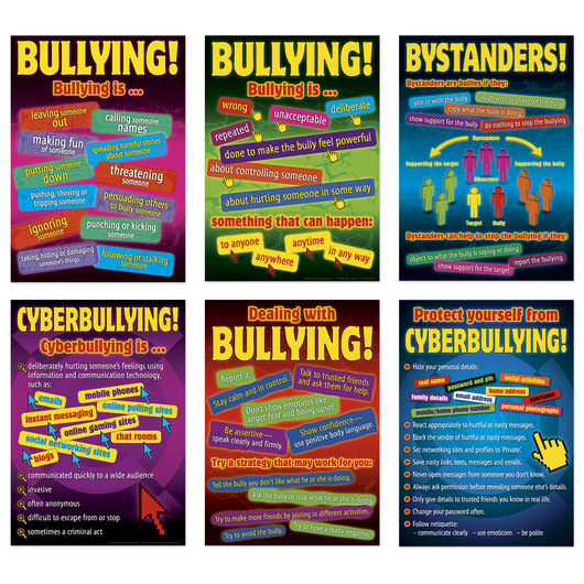 Bullying in a Cyber World Posters - 17 in. x 24 in. - Set of 6
