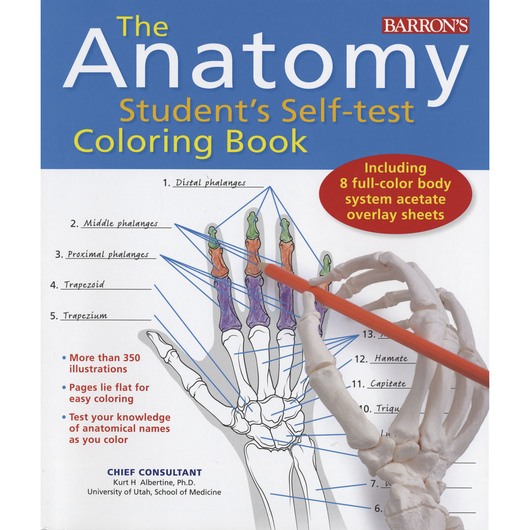 The Anatomy Student's Self-Test Coloring Book