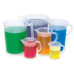 Plastic Beaker Jugs - Set of 6