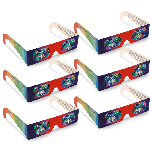 Diffraction Grating Glasses - Set of 6