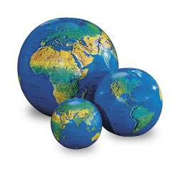 Topographical Inflatable Globe