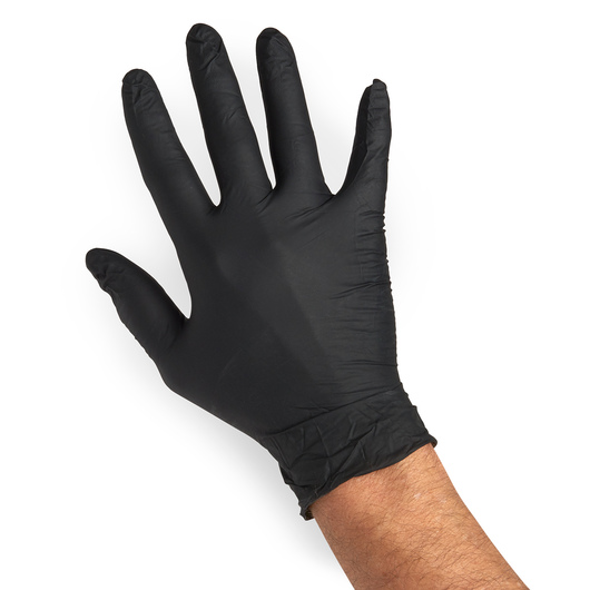Black Nitrile Powder-Free Exam Gloves - Large