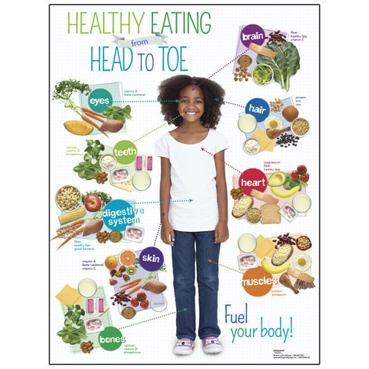 Healthy Eating from Head to Toe Posters - Child