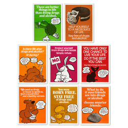 Let's Be Drug Free Posters - 19 in. x 25 in. - Set of 8