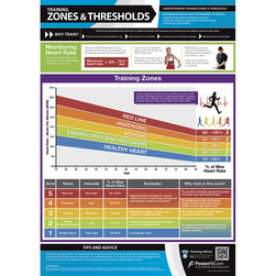 Training Zones and Thresholds Poster - 33-1/2 in. x 23-3/4 in.