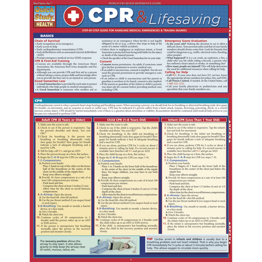 QuickStudy® CPR & Lifesaving Guide