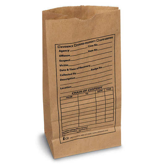 Kraft Paper Evidence Bags (Pack of 100)