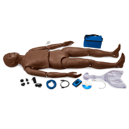 Gaumard® CPR Simon® Full-Body Simulator with OMNI® Code Blue® Pack - Dark