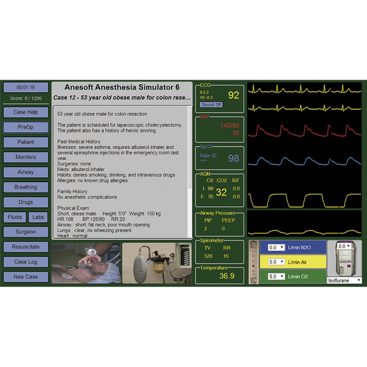 Medical Simulation Software - Anesthesia Simulator 6
