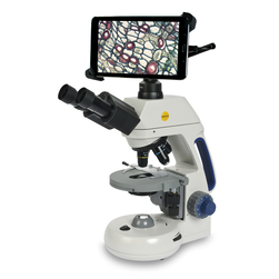 Binocular Compound Microscope - 40X RD/100X RD Objectives - 8 in. Integrated Tablet with Wi-Fi® - HDMI/mini HDMI Output - Micro SD Card Slot