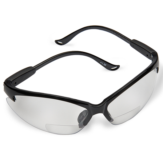 N-Specs® Infusion® Readers - Clear Anti-Fog Magnifying Lens Safety Glasses - 1.5 Diopter