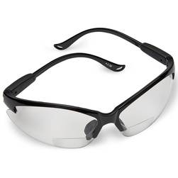 N-Specs® Infusion® Readers - Clear Anti-Fog Magnifying Lens Safety Glasses - 2.5 Diopter