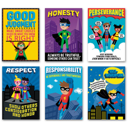 Superhero Character Education Posters