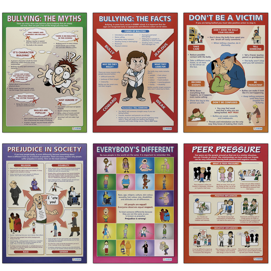 Bullying and Prejudice Posters - 23-1/2 in. x 33 in. - Set of 6