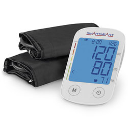 SmartHeart Automatic Digital Blood Pressure Monitor - Arm Monitor with Adult and Large-Adult Nylon Cuff