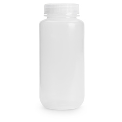 Wide Mouth HDPE Bottle - 16 oz. (473 ml) - Pack of 12