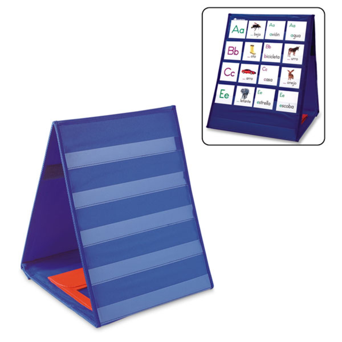 5 Pockets Learning Resources Double-Sided Tabletop Pocket Chart
