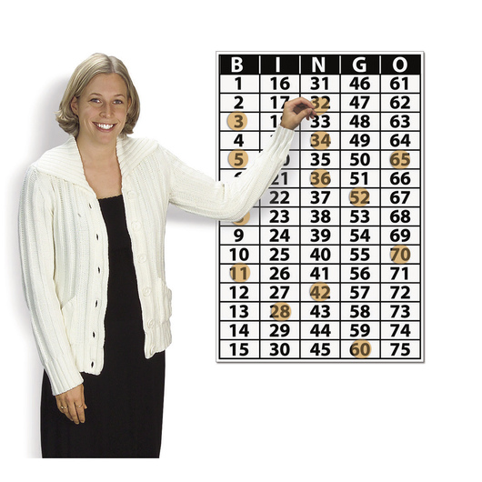 Nasco Bingo Master Calling Board with Cling Markers