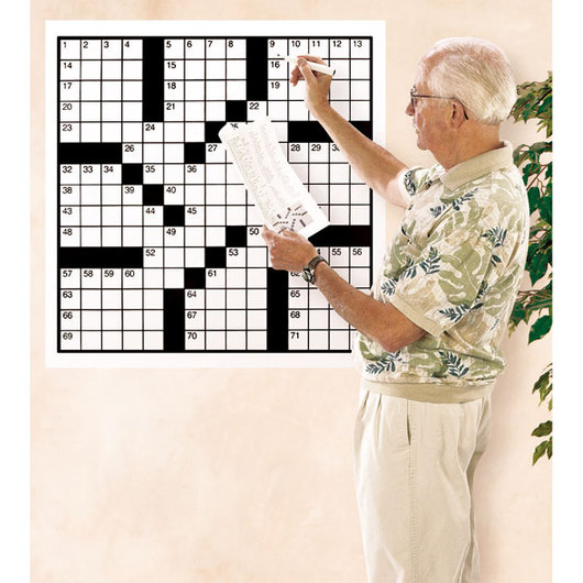 Large Crossword Puzzle Set, 82 Words, 2 ft. x 2 ft. Paper Grid #4, Set of 60 - Books 1 & 2