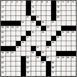 Large Crossword Puzzle Set, 82 Words, 28 in. x 28 in., Laminated Grid #8