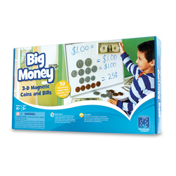 Big Money Plastic Magnetic Coins and Bills