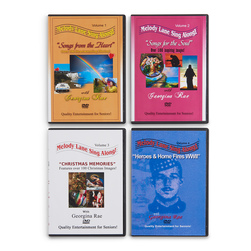 Melody Lane Sing-Along DVD - Set of 4