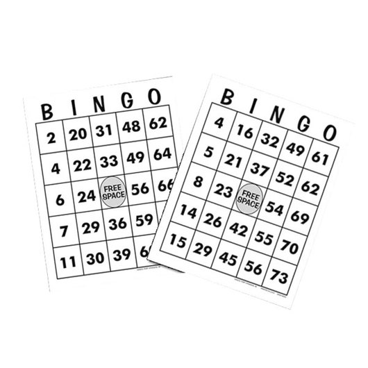 EZ Play Bingo Cards, Set of 10