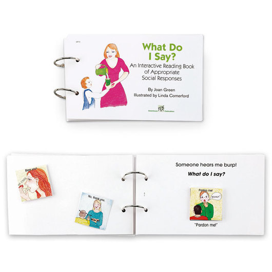 Interactive Reading Book - What Do I Say?
