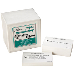1950s Reminiscing Question Quest Card Set