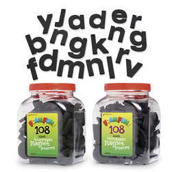 Fun Foam Black Magnetic Uppercase Letter Set