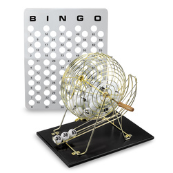 Bingo Ball Cage with Wooden Base